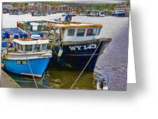 The Boats  Greeting Card