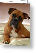 The Boxer Greeting Card by Snake Jagger