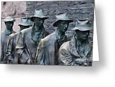 The Breadline Franklin Delano Roosevelt Memorial Greeting Card