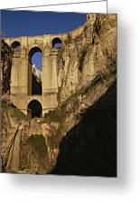 The Bridge At Ronda Spain Connects Greeting Card