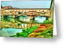The Bridge Of Gold Greeting Card