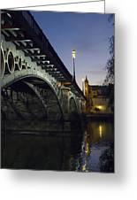 The Bridge Of Triana, Puente De Triana Greeting Card