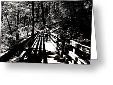 The Bridge Shadow Greeting Card