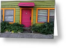 The Brightly Colored Door Illustrated Greeting Card