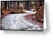 The Broken Road Greeting Card
