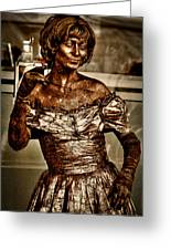 The Bronze Lady In Pike Place Market Greeting Card