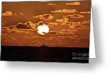 the Bronzy Sunset. Greeting Card