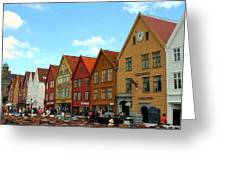 The Bryggen District Of Bergen Greeting Card