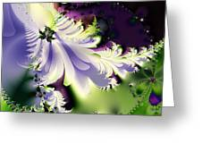 The Butterfly Effect . Version 2 . Square Greeting Card
