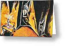 The Cabinet Of Dr Caligari Greeting Card
