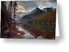The Calm At Lake Louise Greeting Card