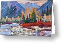 The Canadian Rockies Greeting Card