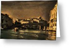 The Canal Venice Greeting Card