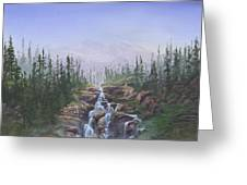 The Canoeist Concern Greeting Card by Kent Nicklin