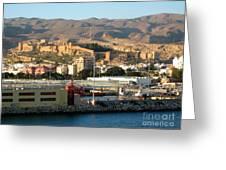 The Castle In Almeria Spain Greeting Card