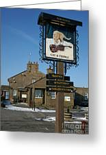 The Cat And Fiddle Pub Greeting Card