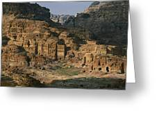 The Caves And Tombs Of Petra, Shown Greeting Card