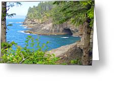 The Caves Of Cape Flattery  Greeting Card