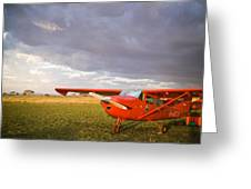 The Cessna Makes A Pit Stop To Refuel Greeting Card