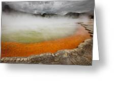 The Champagne Pool In Wai O Tapu Greeting Card