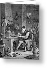 The Chemist, 17th Century Greeting Card