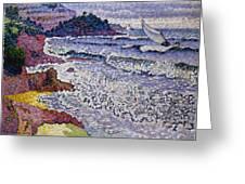 The Choppy Sea Greeting Card by Henri-Edmond Cross