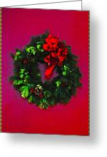 The Christmas Wreath Greeting Card