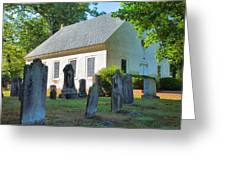 The Church Cemetery Greeting Card