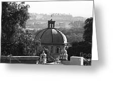 The Church In Lovers Park Greeting Card
