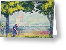 The Church Of Santa Maria Degli Angeli Greeting Card by Henri-Edmond Cross