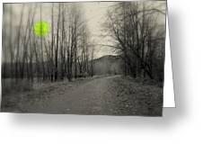 The Circle Green - Bare Walkin Trail Greeting Card