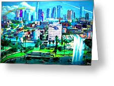 The City Of Angels Greeting Card