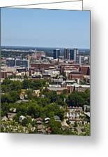 The City Of Birmingham Alabama Usa Vertical Greeting Card