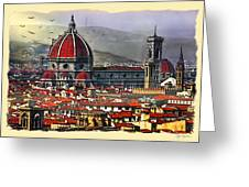 The City Of Florence Greeting Card