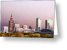 The City Of Warsaw Greeting Card
