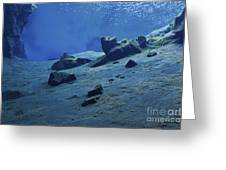 The Clear Water Of The Lagoon At Silfra Greeting Card