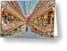 The Cleveland Arcade IIi Greeting Card by Clarence Holmes