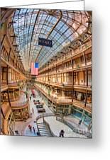 The Cleveland Arcade Iv Greeting Card