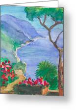 The Coast Of Italy Greeting Card