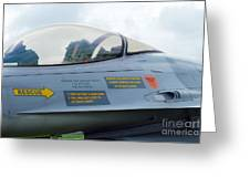 The Cockpit Of An F-16 Fighting Falcon Greeting Card