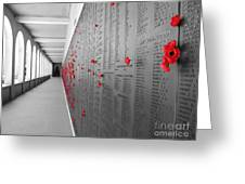 The Color Of Remembrance Greeting Card