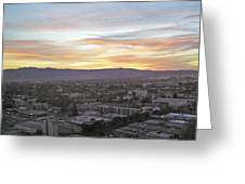 The Colors Of The Sky Over San Jose At Sunset Greeting Card by Ashish Agarwal
