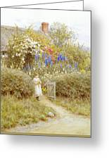 The Cottage Gate Greeting Card