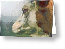The Cow Portrait Greeting Card by Odon Czintos
