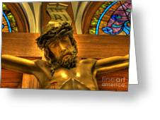 The Crucifiction Of Jesus Of Nazareth Greeting Card by Lee Dos Santos