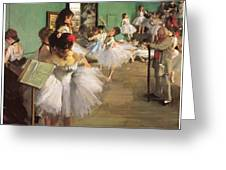 The Dance Class Greeting Card by Edgar Degas