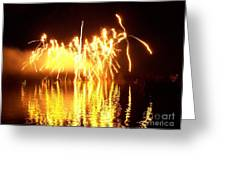 The Dance Of Fire And Water Greeting Card