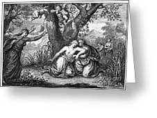 The Death Of Eurydice Greeting Card
