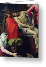 The Descent From The Cross Greeting Card