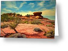 The Desert And The Sky Greeting Card